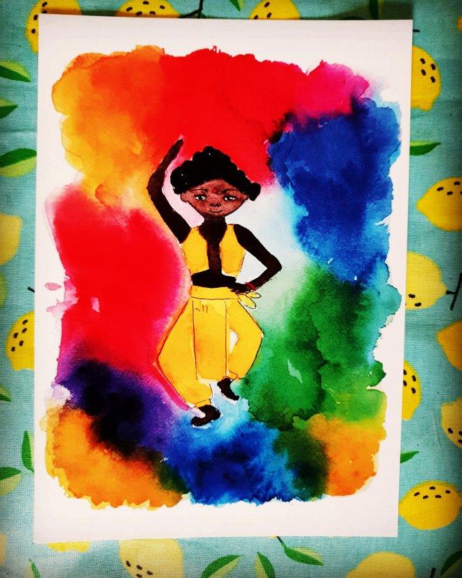 Salman, le danseur à la fête des couleurs